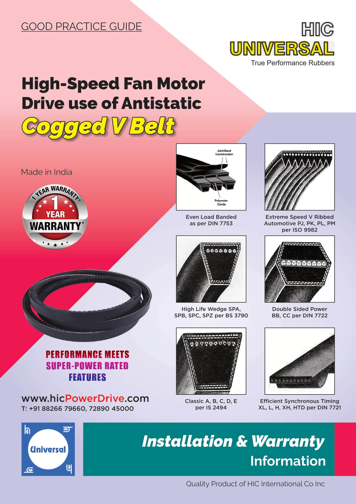 IInstallation-of-V-BELT-Antistatic-Rubber-Fan-Motor Drive