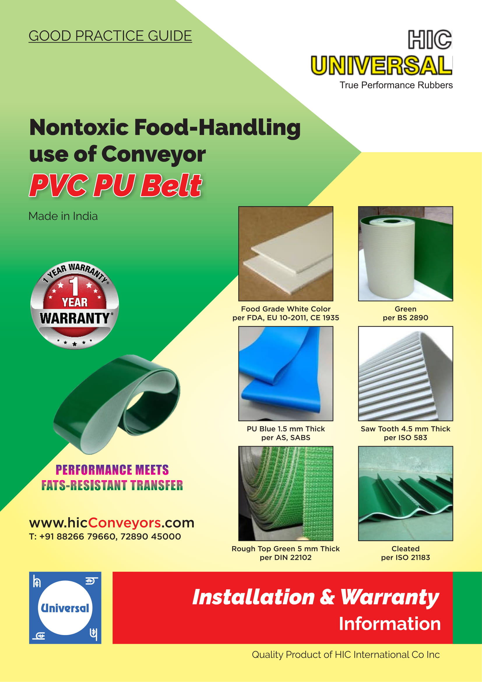 Installation-of-BELT-PVC-PU-Conveyor-Food Handling