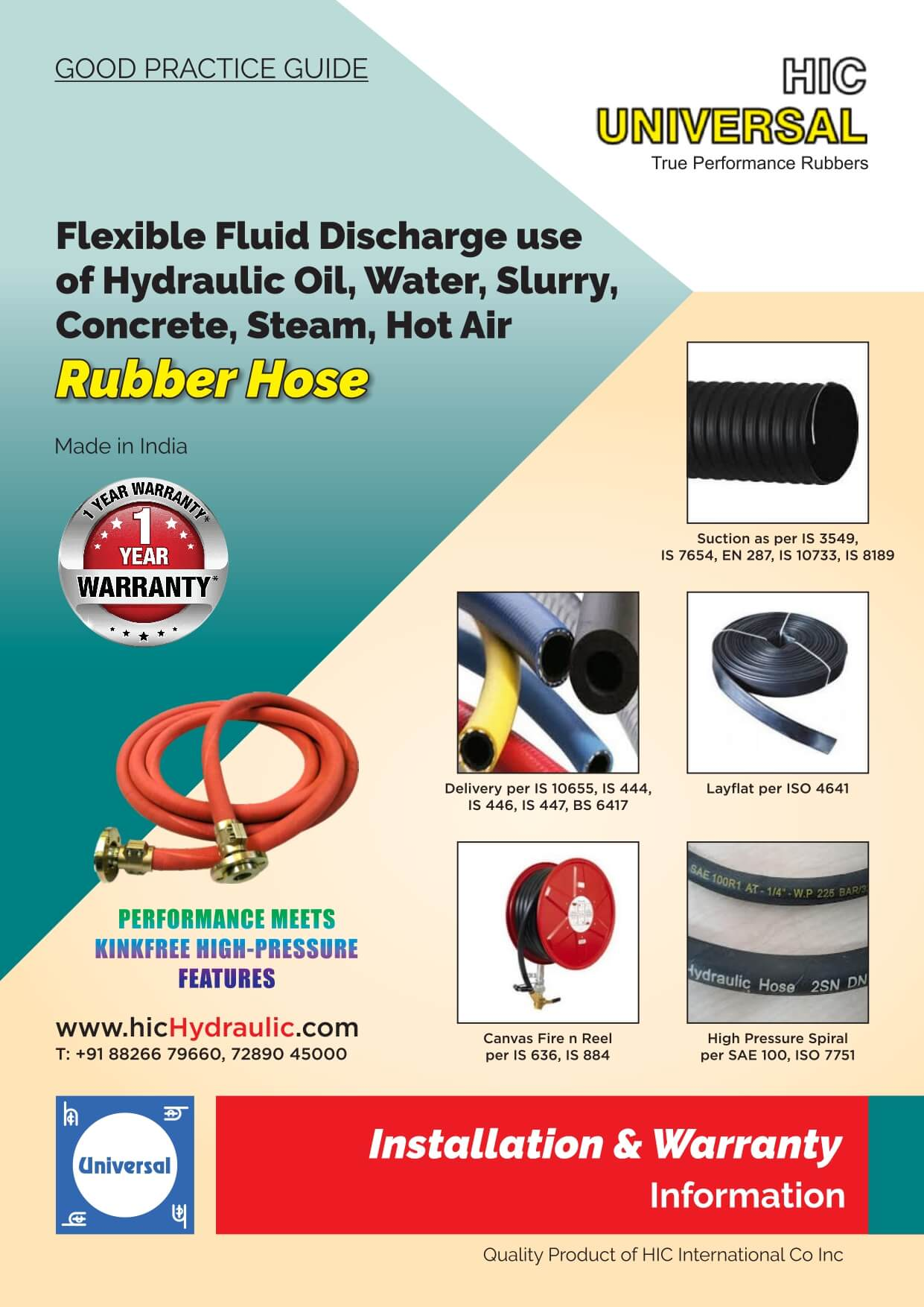 Installation-of-HOSE-Rubber-Flexible-Steam-Mud-Water-Concrete